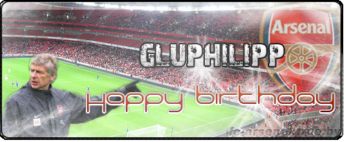 Happy birthday gluphilipp