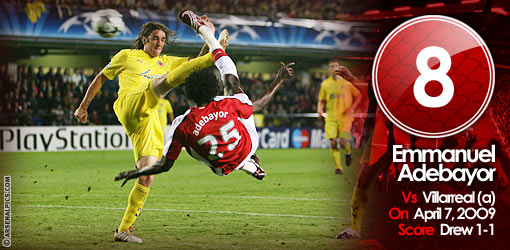 GGG8: Adebayor v Villarreal, 2009