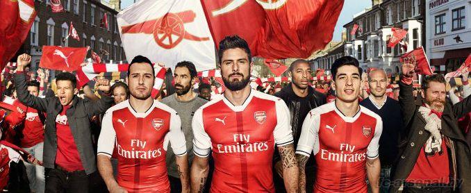 Арсенал представил новую домашнюю форму на сезон 2016/17