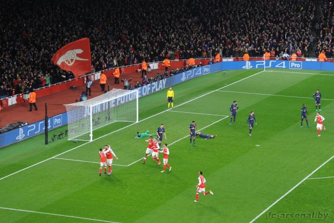 Фотоотчёт матча Арсенал - ПСЖ