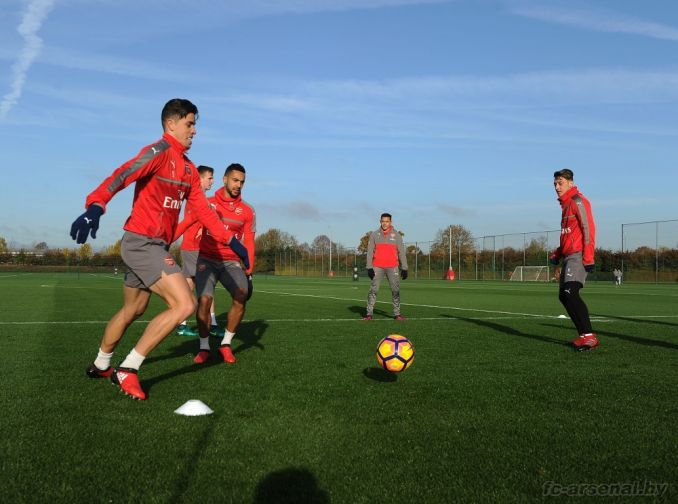 Тренировка перед матчем против Борнмута