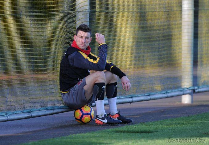 Тренировка перед матчем против Вест Бромвича
