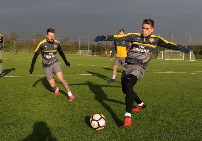 Тренировка перед матчем против Престона
