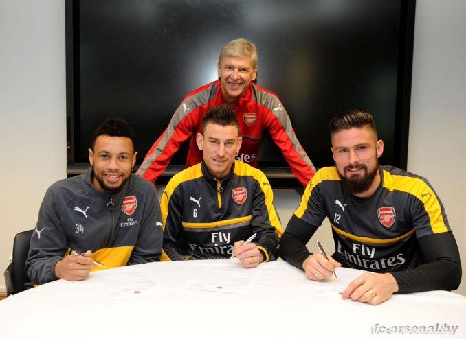 Официально: Коклен, Жиру и Косьелни продлили контракт с Арсеналом