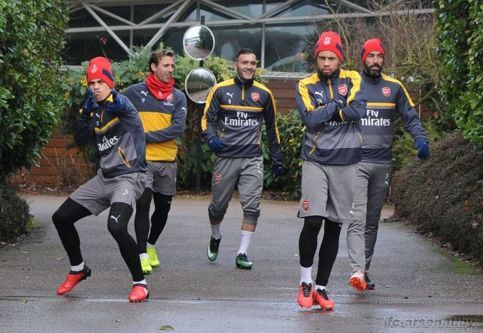 Тренировка перед матчем против Суонси