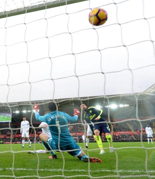 Фотоотчёт матча Суонси - Арсенал
