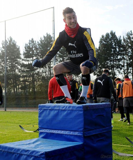 Тренировка Арсенала в Колни