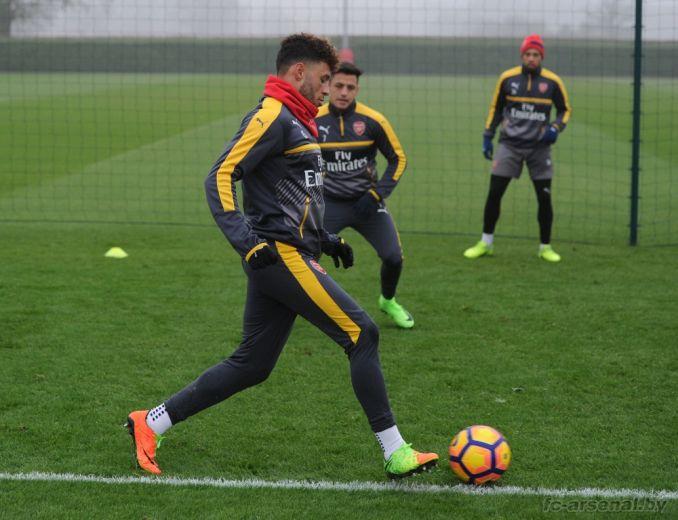 Тренировка перед матчем против Халл Сити