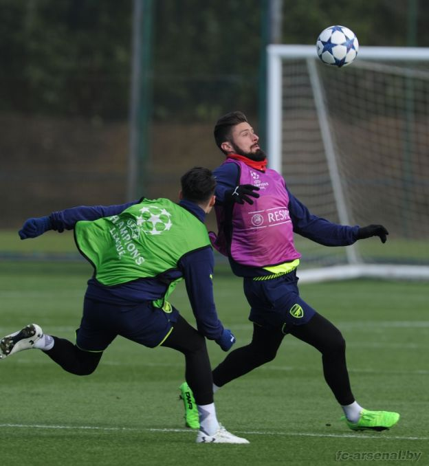 Тренировка перед матчем против Баварии