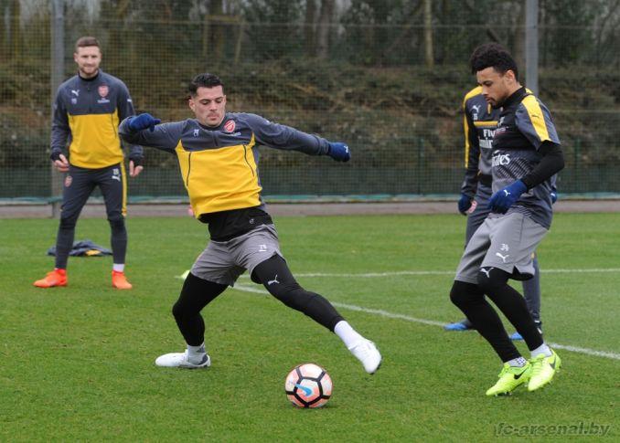 Тренировка перед матчем против Саттон Юнайтед