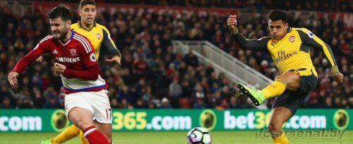 Премьер Лига: Мидлсбро 1-2 Арсенал. Отчет