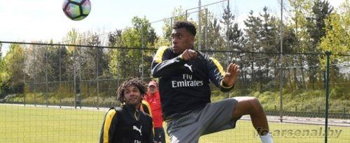 Тренировка перед матчем против Лестера