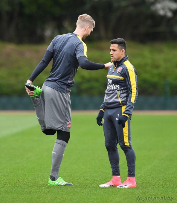 Тренировка перед матчем против Вест Хэма