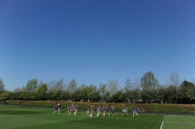 Тренировка перед матчем против Кристал Пэлас