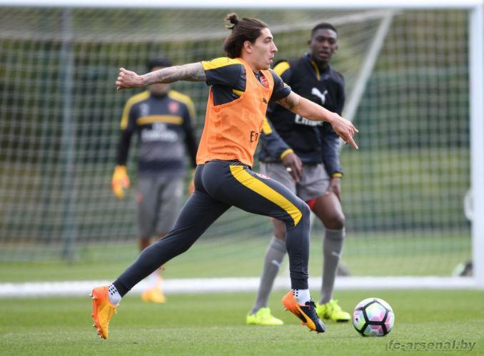 Тренировка перед матчем против Мидлсбро