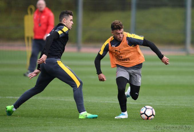 Тренировка перед матчем против Манчестер Сити