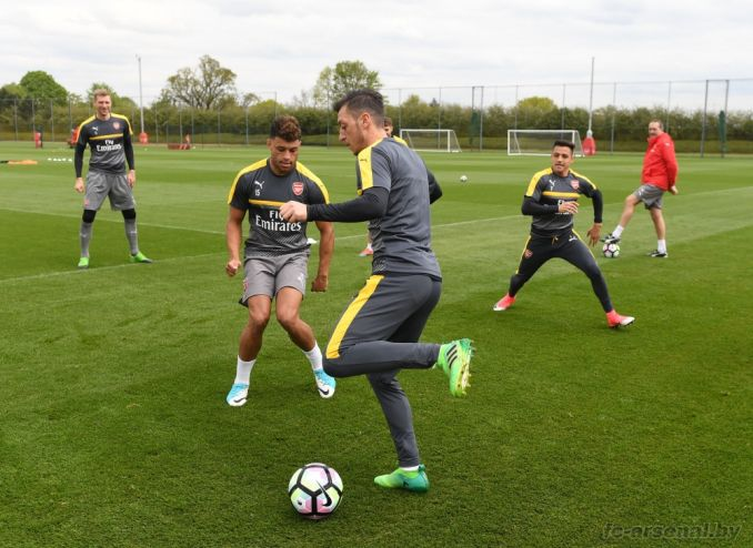 Тренировка перед матчем против Тоттенхэма
