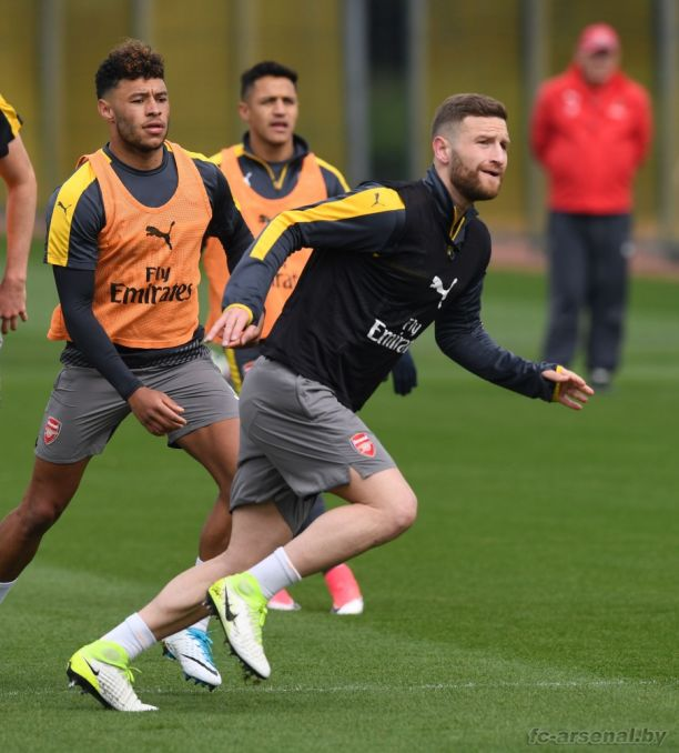 Тренировка перед матчем против Манчестер Юнайтед
