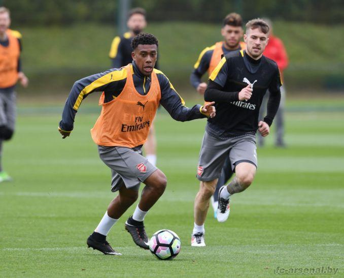 Тренировка перед матчем против Саутгемптона