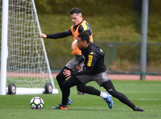 Тренировка перед матчем против Сток Сити