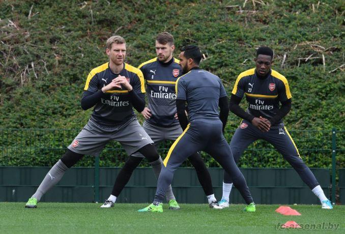 Тренировка перед матчем против Сандерленда