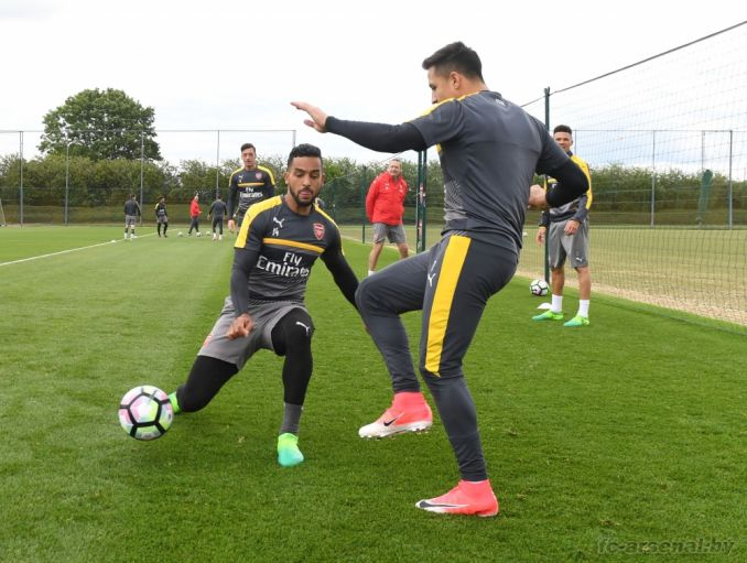Тренировка перед матчем против Эвертона