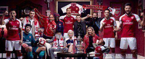 Арсенал представил новую домашнюю форму на сезон 2017/18
