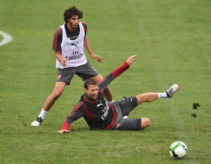 Тренировка перед матчем против Сиднея