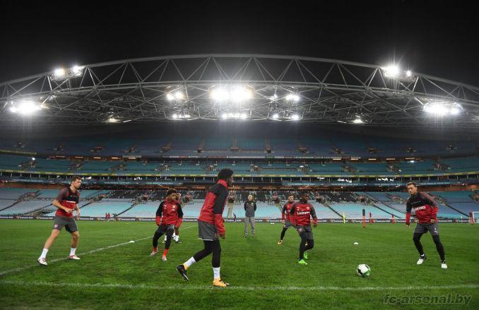 Тренировка перед матчем против Вестерн Сидней Уондерерс