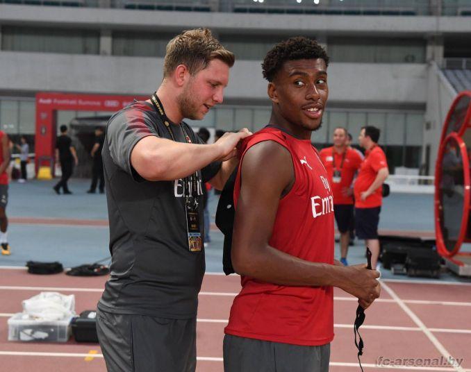 Тренировка перед матчем с Баварией