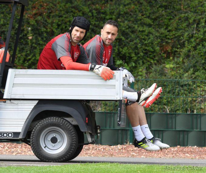 Тренировка перед матчем с Бенфикой