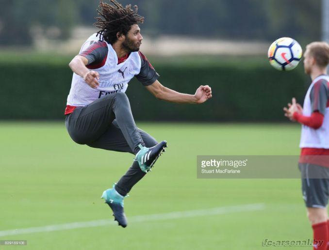 Тренировка перед матчем с Лестером