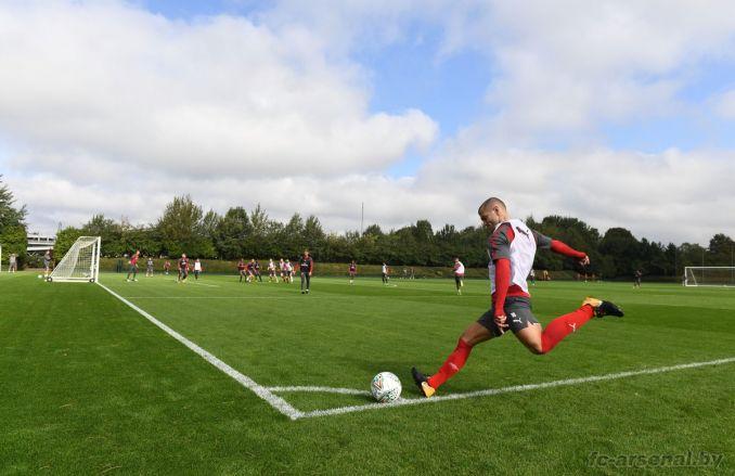 Тренировка перед матчем с Донкастер Роверс