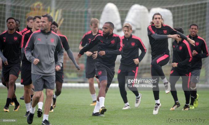 Тренировка перед матчем с БАТЭ