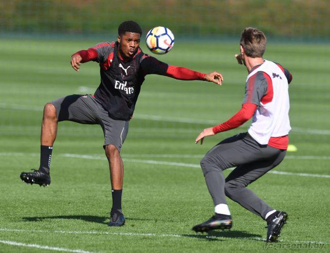 Тренировка перед матчем с Брайтоном