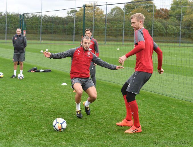 Тренировка перед матчем с Уотфордом