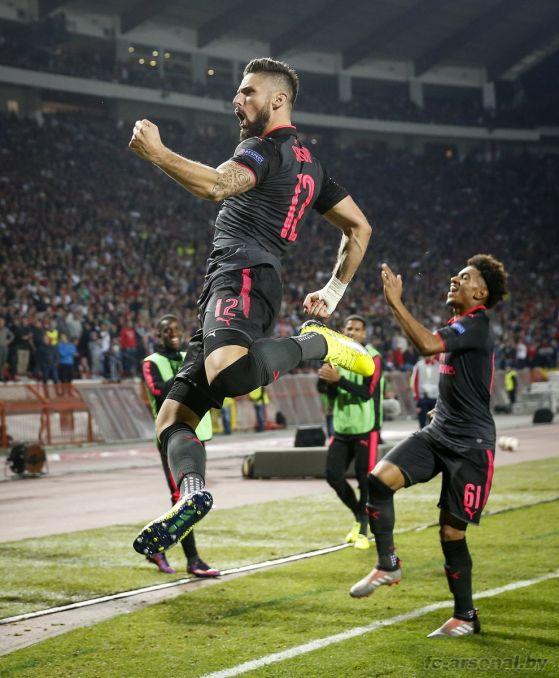 Фотоотчёт матча Црвена Звезда - Арсенал