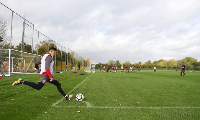 Тренировка перед матчем с Эвертоном
