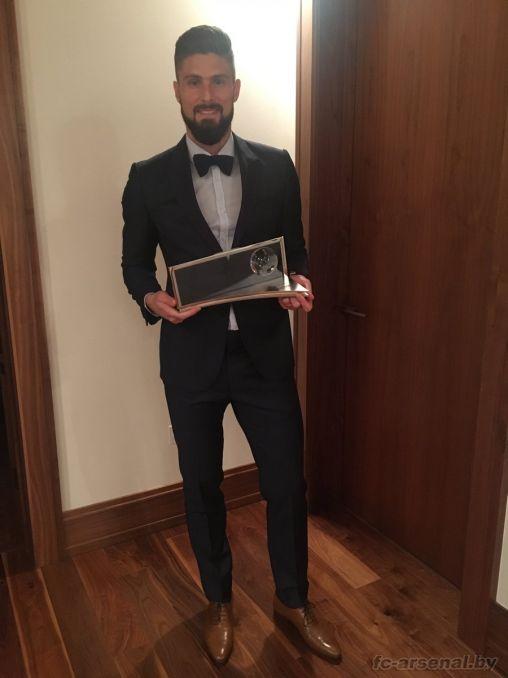 Оливье Жиру - обладатель премии Пушкаша за лучший гол года