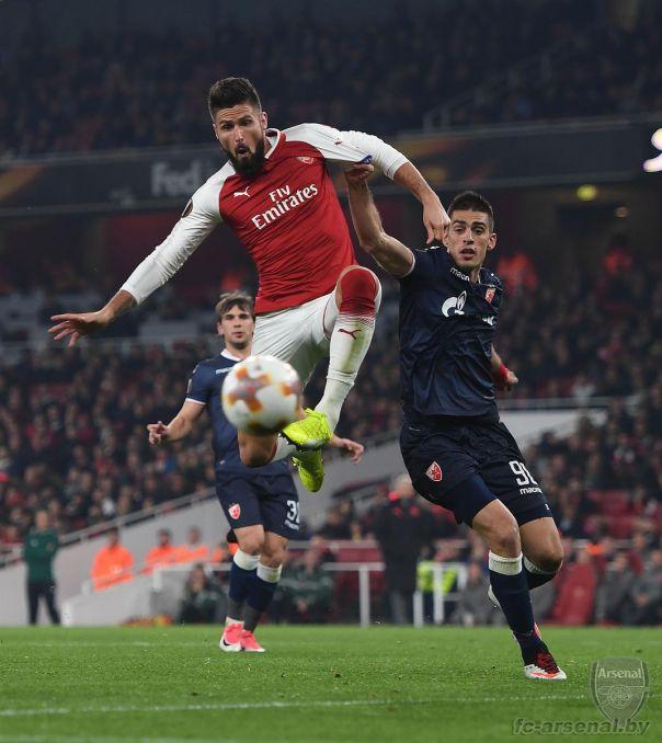 Фотоотчёт матча Арсенал - Црвена Звезда