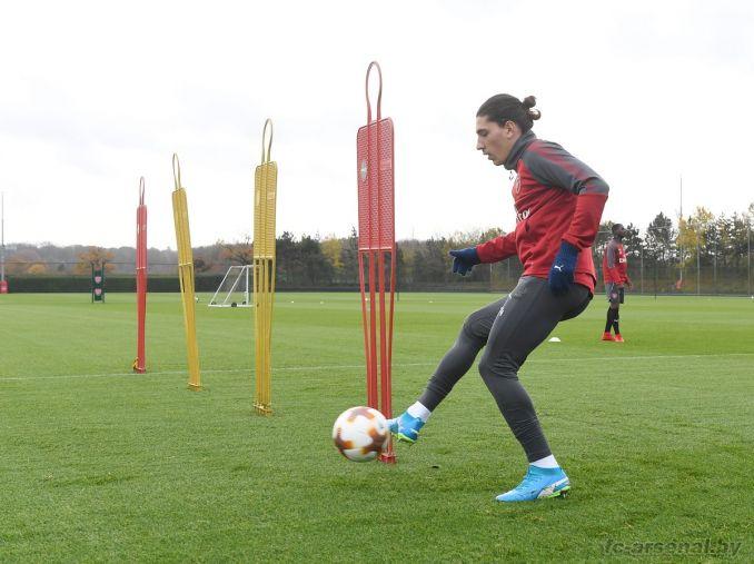 Тренировка перед матчем с Кёльном