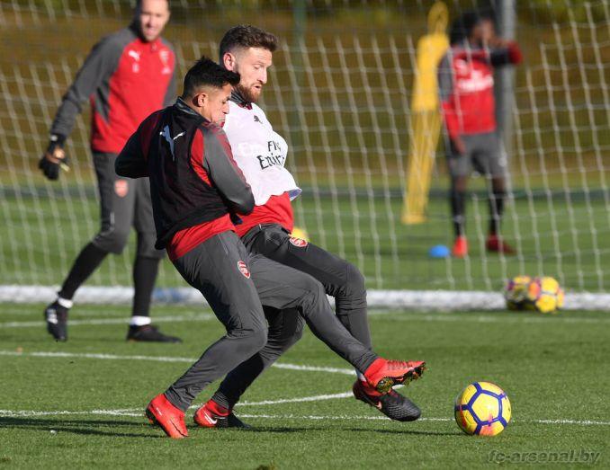 Тренировка перед матчем с Бёрнли