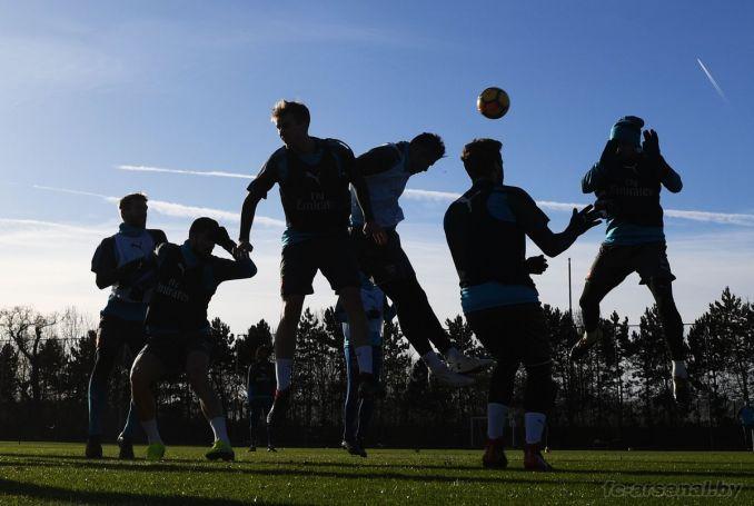 Тренировка перед матчем с Саутгемптоном