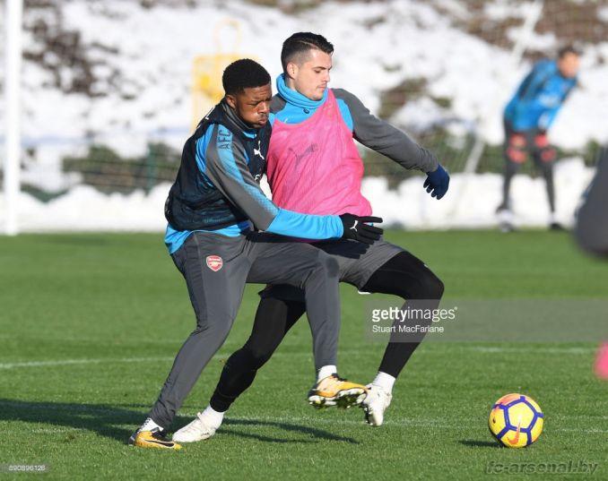 Тренировка перед матчем с Вест Хэмом