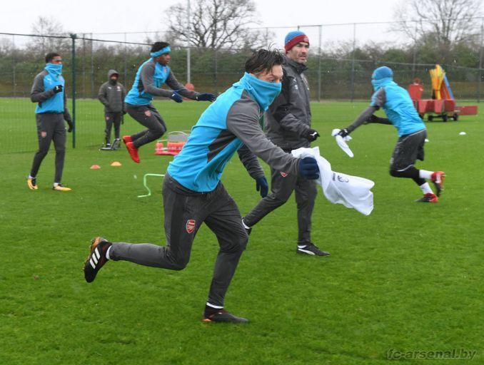 Тренировка перед матчем с Кристал Пэлас