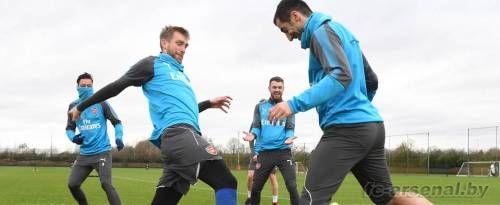 Тренировка перед матчем с Суонси