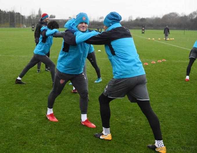 Тренировка перед матчем с Челси