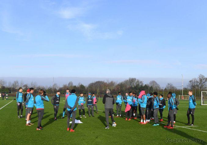 Тренировка перед матчем с Ноттингем Форест