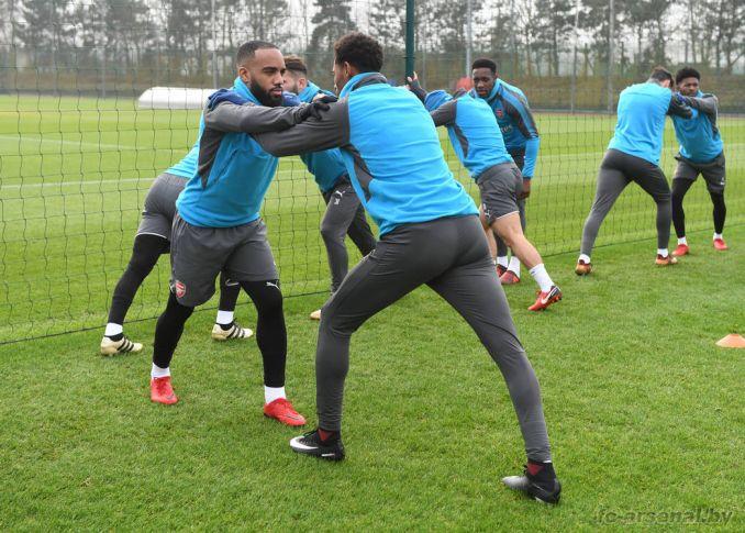 Тренировка перед матчем с Борнмутом
