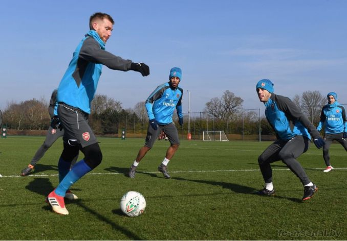 Тренировка перед матчем с Манчестер Сити